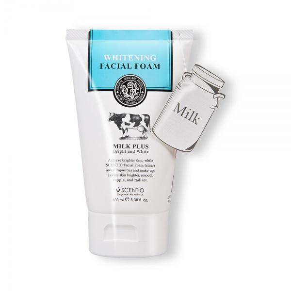 Scentio Whitening Milk Plus Bright & White Facial Foam 100ML (Made In Thailand)