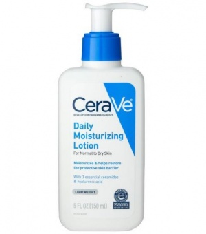 Finding the right products for your skincare routine should come down to a few easy steps. Besides cleansing, a daily moisturizer is essential. We recommend looking for ingredients like hyaluronic acid and ceramides to help maintain skin's protective barrier. CeraVe Daily Moisturizing Lotion replenishes essential lipids so the skin is balanced and comfortable. CeraVe Daily Moisturizing Lotion is a lightweight, oil-free moisturizer that helps hydrate the skin and restore its natural barrier. Formulated with three essential ceramides and hyaluronic acid, this moisturizing lotion features patented MVE Technology for long-lasting hydration and a lightweight, non-comedogenic formula that won't clog pores. Hypoallergenic and non-irritating, this daily moisturizer is gentle on the skin as it provides a steady stream of 24-hour hydration. Moisturizes and helps restore the skin's protective barrier Lightweight and non-greasy MVE Technology: This patented delivery system continually releases moisturizing ingredients for 24-hour hydration Ceramides: Essential for healthy skin, ceramides help restore and maintain the skin's natural barrier Hyaluronic acid: This ingredient attracts hydration to the skin's surface and helps the skin retain moisture Non-comedogenic, hypoallergenic, oil-free and fragrance-free Developed with dermatologists Accepted by the National Eczema Association